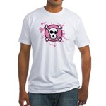 Fishnet Skull Fitted T-Shirt