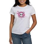 Fishnet Skull Women's T-Shirt