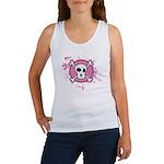 Fishnet Skull Women's Tank Top