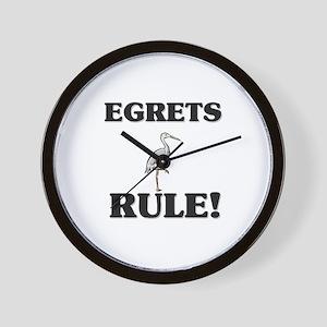 Egrets Rule! Wall Clock