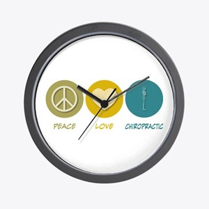Peace Love Chiropractic Wall Clock