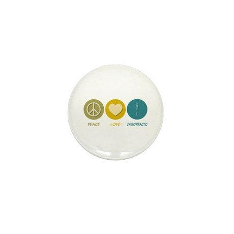 Peace Love Chiropractic Mini Button (10 pack)