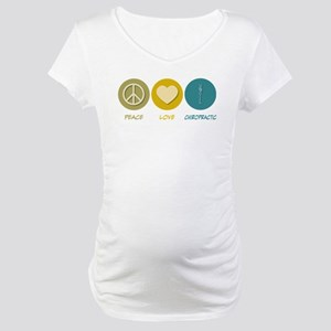 Peace Love Chiropractic Maternity T-Shirt