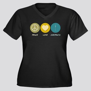 Peace Love Chiropractic Women's Plus Size V-Neck D