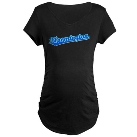 Retro Bloomington (Blue) Maternity Dark T-Shirt