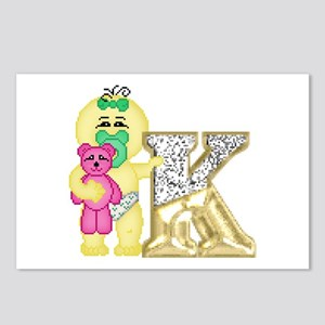 Baby Initials - K Postcards (Package of 8)
