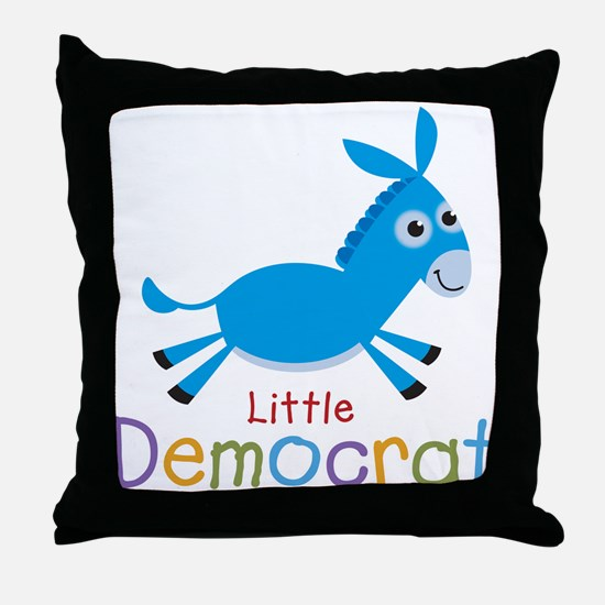 Little Democrat Throw Pillow
