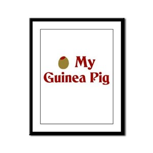 Olive (I Love) My Guinea Pig Framed Panel Print