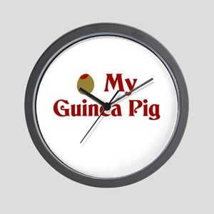 Olive (I Love) My Guinea Pig Wall Clock