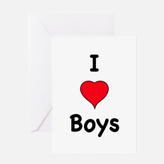 Cute I like boys Greeting Card