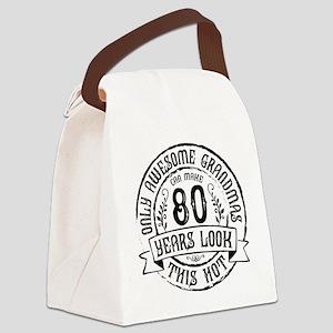 Grandma 80th Bday Canvas Lunch Bag