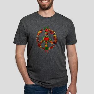 Veggie Peace Sign Mens Tri-blend T-Shirt