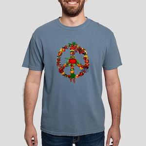 Veggie Peace Sign Mens Comfort Colors Shirt