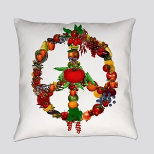 Veggie Peace Sign Everyday Pillow