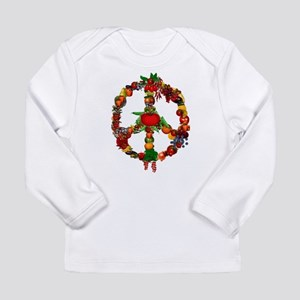 Veggie Peace Sign Long Sleeve Infant T-Shirt