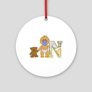 Baby Initials - N Keepsake (Round)