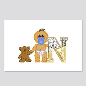 Baby Initials - N Postcards (Package of 8)