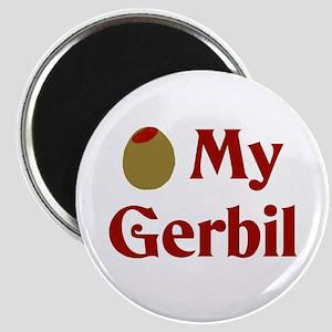 Olive (I Love) My Gerbil Magnet