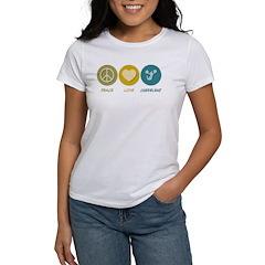 Peace Love Cheerlead Women's T-Shirt