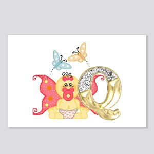Baby Initials - Q Postcards (Package of 8)