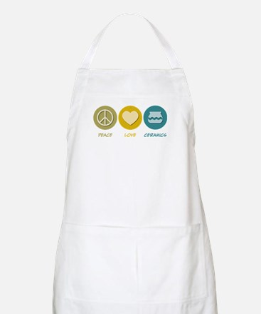 Peace Love Ceramics BBQ Apron