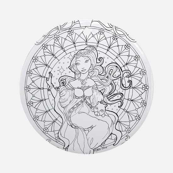 ode to Mucha Ornament (Round)