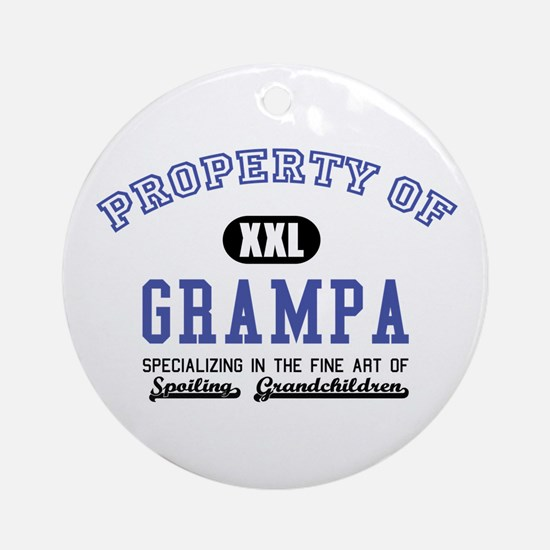 Property of Grampa Ornament (Round)