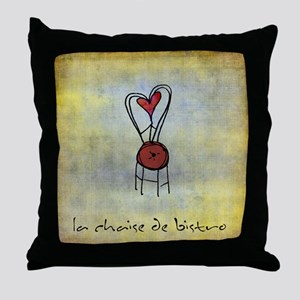 The Bistro Chair Throw Pillow