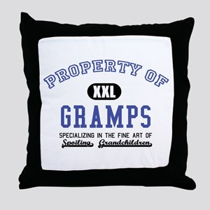 Property of Gramps Throw Pillow