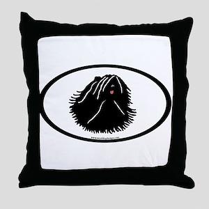 Puli Dog Oval Throw Pillow