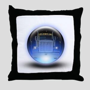 Trucker's Crystalball Throw Pillow