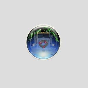 Trucker's Holiday Crystalball Mini Button
