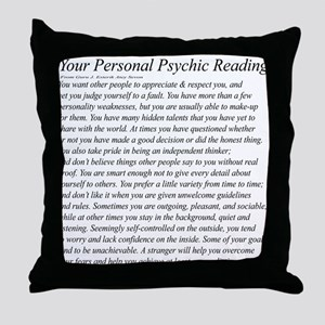 Personal Reading Throw Pillow