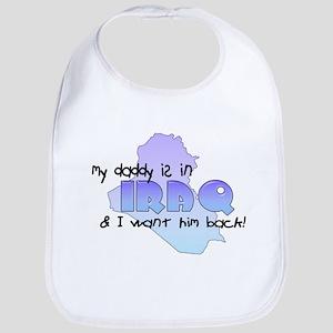 Daddy in Iraq- Blue Bib