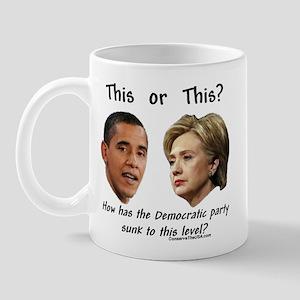 """Democrats Hit New Low"" Mug"