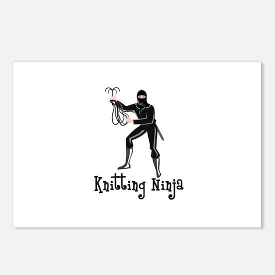 Knitting Ninja Postcards (Package of 8)