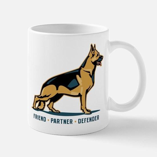 German Shepherd Friend Mug