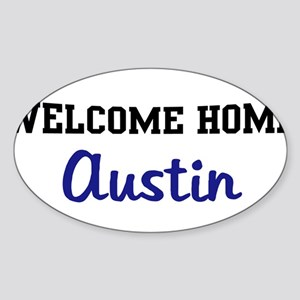 Welcome Home Austin Oval Sticker