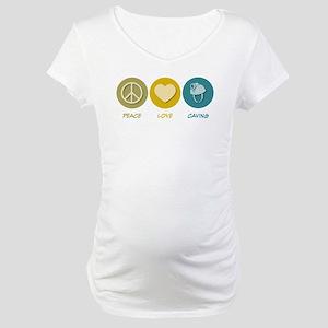 Peace Love Caving Maternity T-Shirt