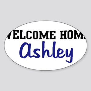 Welcome Home Ashley Oval Sticker