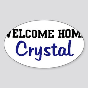Welcome Home Crystal Oval Sticker