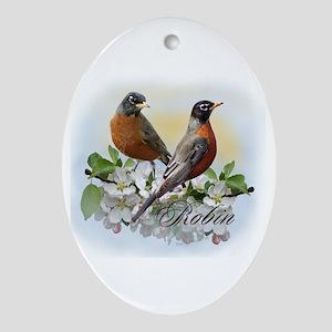American Robin Oval Ornament