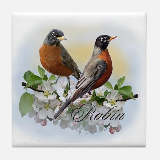 American Robin Tile Coaster