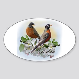American Robin Oval Sticker
