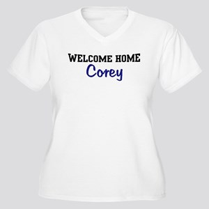 Welcome Home Corey Women's Plus Size V-Neck T-Shir