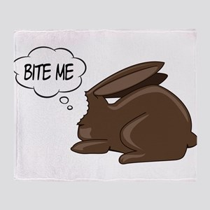 Bunny Bite Me Throw Blanket