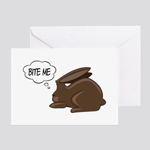 Bunny Bite Me Greeting Card