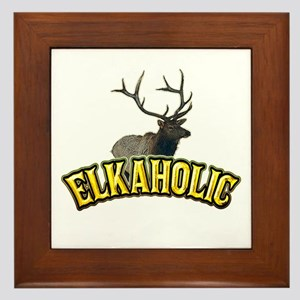 ELKAHOLIC elk hunter gifts Framed Tile