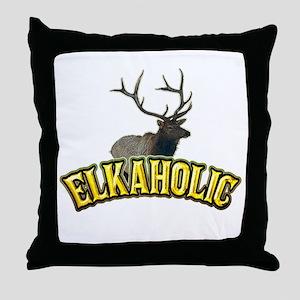 ELKAHOLIC elk hunter gifts Throw Pillow