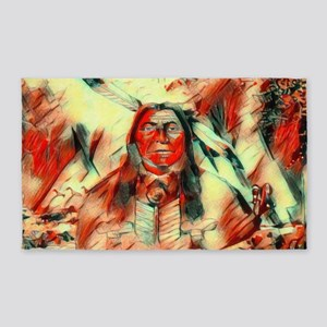 Red Feather Chief Area Rug